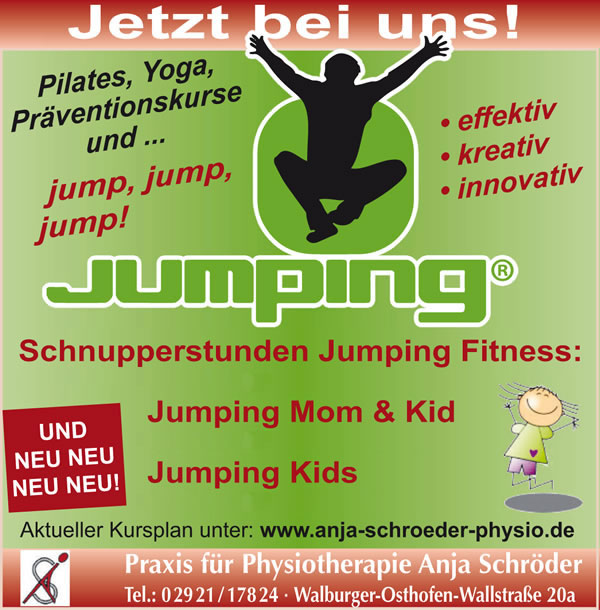 Schnupperkurse Jumping Fitness in Soest